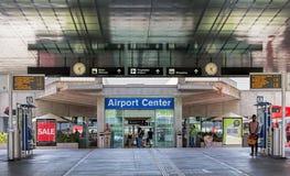Entrée de l'aéroport de Zurich Image stock