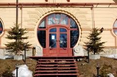 Entrée de l'hôtel de luxe chez Strbske Pleso Image stock