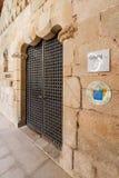 Entrée de l'hôtel historique de Pousadas De Portugal dans Flor da Rosa Monastery médiévale photos stock