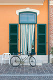 Entrée de la maison d'un pêcheur à Porto Recanati, Italie photo stock