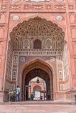 Entrée de la mosquée de Badshahi photo libre de droits
