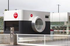 Entrée de la nouvelle usine du Leica iconique au Portugal Photos libres de droits