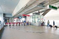Entrée de la station de Payathai de lien d'aéroport à Bangkok, Thaïlande. Photographie stock
