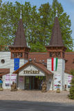 Entrée de lac thermique Heviz en Hongrie Photo libre de droits