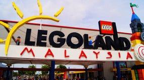 Entrée de Legoland Malaisie Images stock