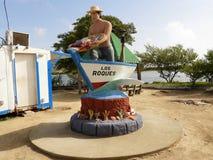 Entrée de Los Roques, mer des Caraïbes, Venezuela images stock