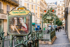 Entrée de métro de Reaumur Sébastopol Photos libres de droits