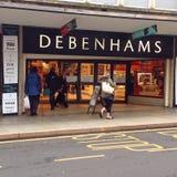 Entrée de magasin de Debenhams Photos libres de droits