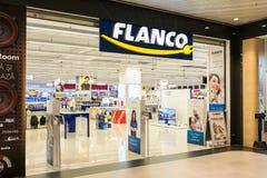 Entrée de magasin de l'électronique de Flanco Photographie stock