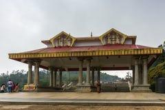 Entrée de Mandapam chez Talakaveri, ressort de Kaveri River, Inde Photo stock