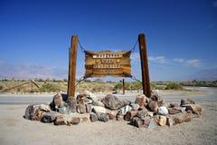 Entrée de Manzanar Photographie stock libre de droits