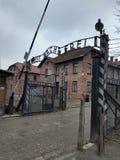 Entrée de musée d'Auschwitz image libre de droits