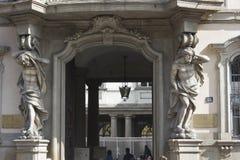 Entrée de Palazzo Arese Litta à Milan Images libres de droits