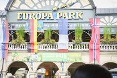 Entrée de parc d'Europa dans la rouille, Allemagne Images libres de droits