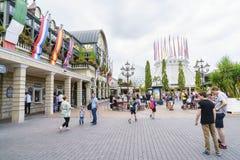 Entrée de parc d'Europa dans la rouille, Allemagne Photographie stock libre de droits