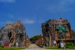 Entrée de parc Langkawi de légende Photographie stock