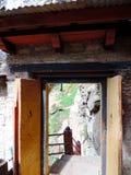Entrée de Paro Taktsang du Bhutan photographie stock libre de droits