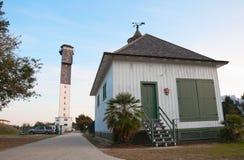 Entrée de phare de l'île de Sullivan Image libre de droits