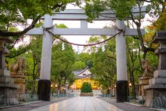 Entrée de pilier au tombeau, tombeau de Minatogawa Photos libres de droits