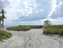Entrée de plage Photographie stock