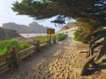 Entrée de plage de Pfeiffer Image libre de droits