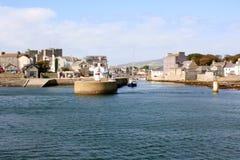 Entrée de port au port de Castletown Images stock
