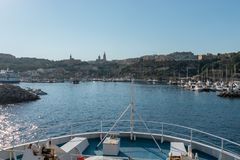 Entrée de port de Mgarr Gozo photos libres de droits