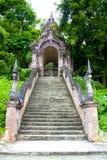 Entrée de porte d'escalier Photo stock