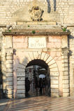 Entrée de porte de Varata OD Mora au cittadel de Kotor Photographie stock