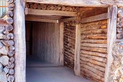 Entrée de puits de mine à la mine d'or souterraine photographie stock libre de droits