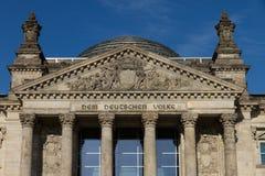 Entrée de Reichstag de Berlin Image libre de droits