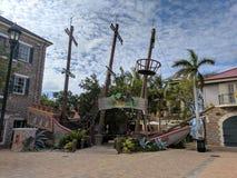 Entrée de restaurant de naufrage de faux de Margaritiville Jamaïque photographie stock