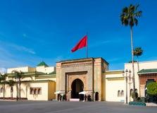 Entrée de Royal Palace à Rabat Photographie stock