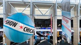 Entrée de salon de l'Auto de Chicago (CAS) photographie stock libre de droits