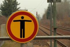 Entrée de signe interdite image libre de droits