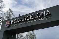 Entrée de stade de FC Barcelona photographie stock libre de droits