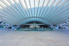 Entrée de station de Lisbonne Oriente en journée Images libres de droits
