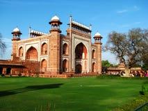 Entrée de Taj Mahal Images stock