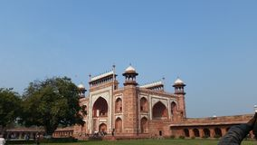 Entrée de Taj Mahal Image stock