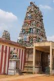 Entrée de temple chez Soorakudi dans Tamil Nadu Photographie stock libre de droits