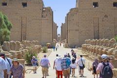 Entrée de temple de Karnak photo libre de droits