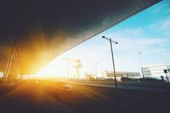 Entrée de terminal d'aéroport moderne Photographie stock libre de droits