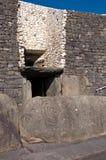 Entrée de tombe de passage de Newgrange Images libres de droits