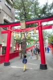 Entrée de tombeau, 5ème station du mont Fuji, Japon Photographie stock