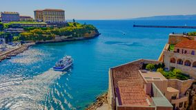 Entrée de vieux port de Marseille images libres de droits