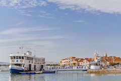 Entrée de ville de Seixal dans le secteur de Sétubal, Portugal Images libres de droits