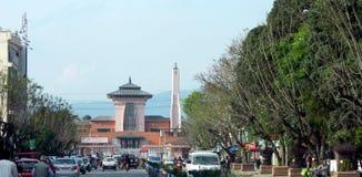 Entrée de ville du Népal photo libre de droits