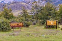 Entrée de visibilité directe Glaciares de Parque Nacional, Argentine Photographie stock