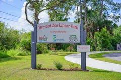 Entrée de zoo de Brevard photos stock