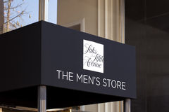 Entrée du magasin des hommes de Saks Fifth Avenue Photos stock